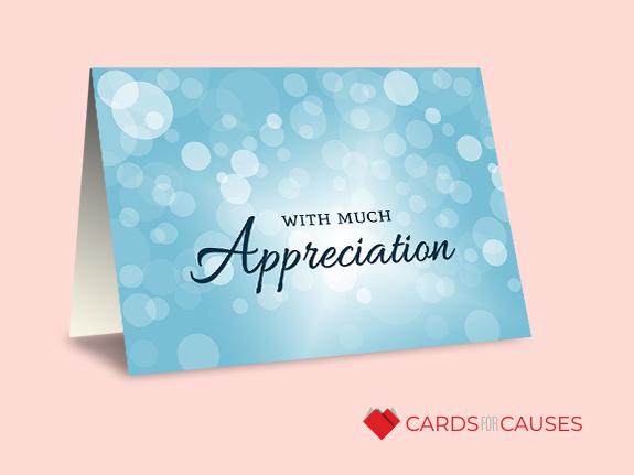 Shop Appreciation Bubbles Card